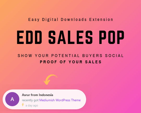 Easy Digital Downloads Sales Pop