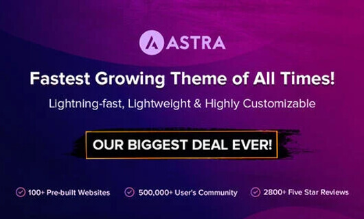 astra theme black friday/cyber monday 2019