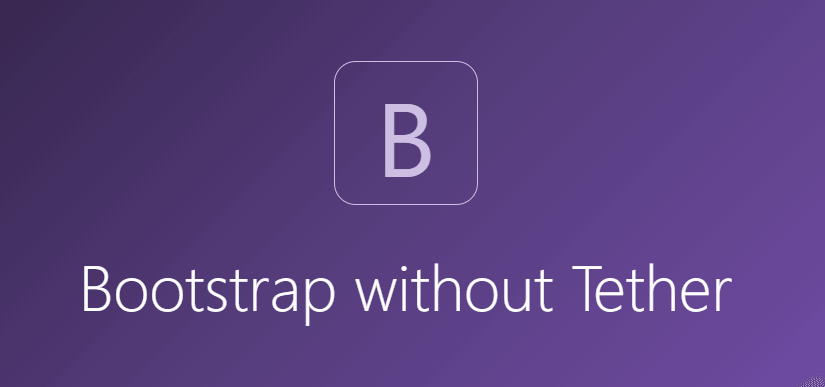 bootstrap without tether