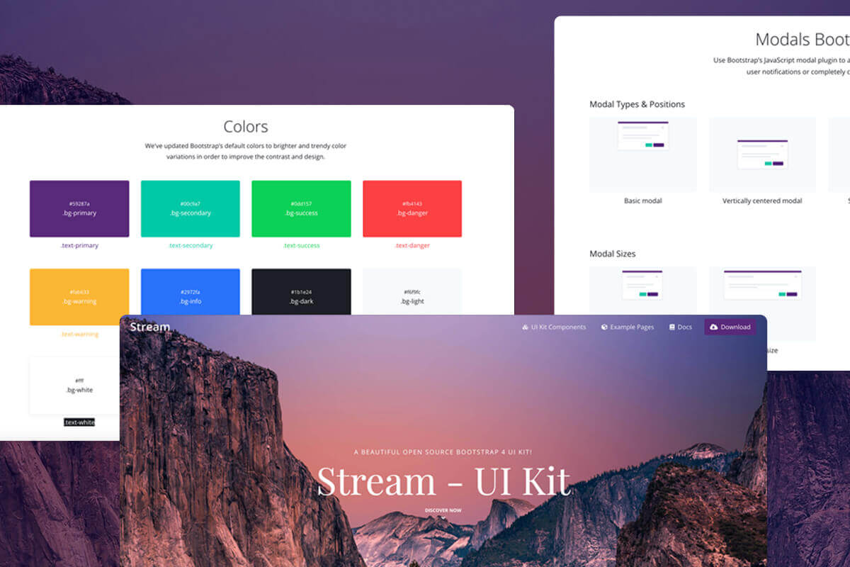 stream bootstrap ui kit