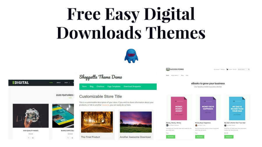 free easy digital downloads themes