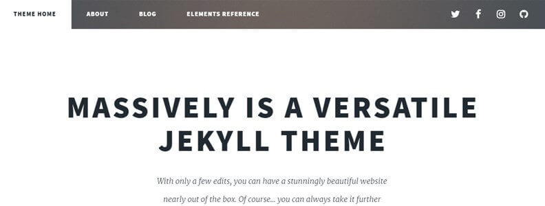 jekyll theme massively