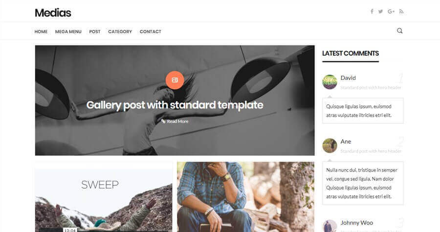 medias wordpress theme like medium