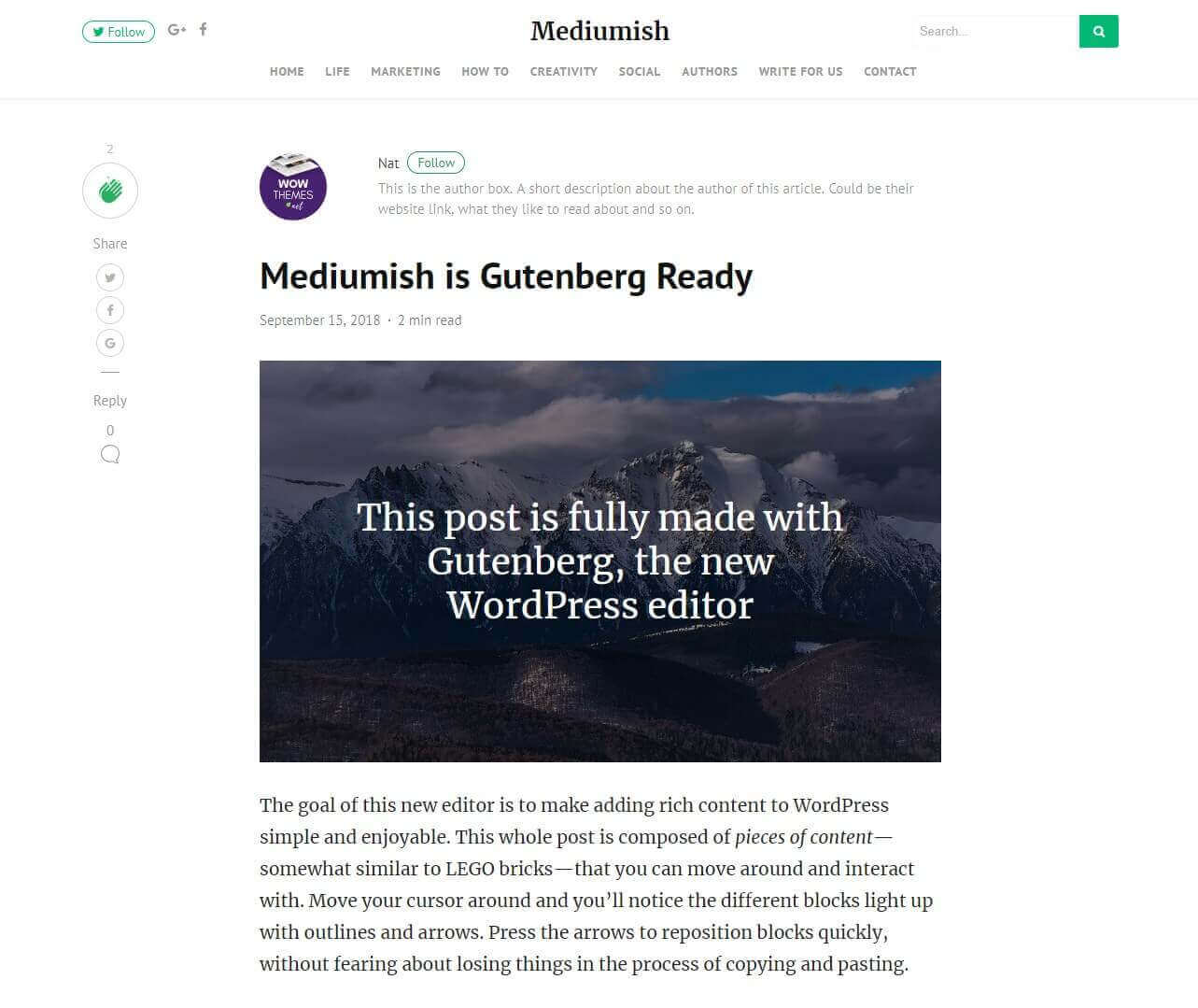 Gutenberg Ready WordPress Themes