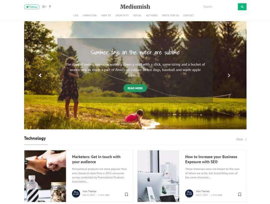 mediumish wordpress theme like medium