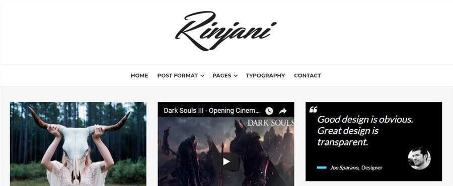 rinjani wordpress theme like medium