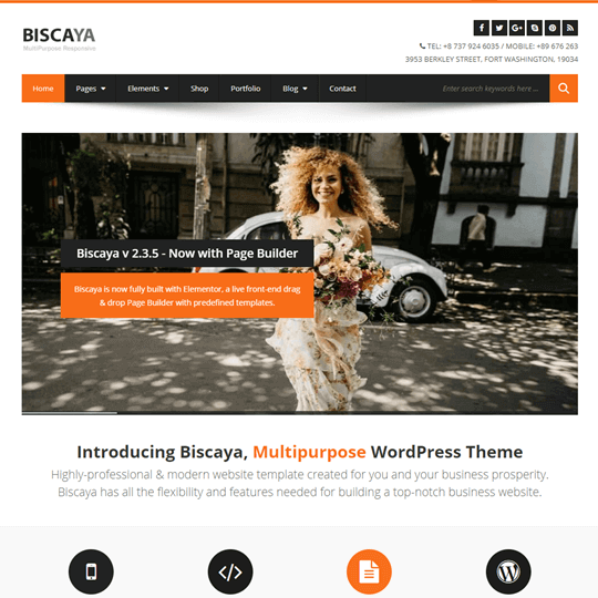 Biscaya wordpress theme wow themes wordpress multipurpose theme flashek