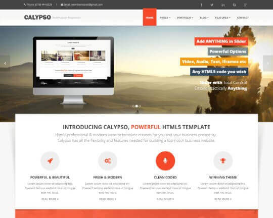 Calypso html wow themes calypso html accmission Image collections