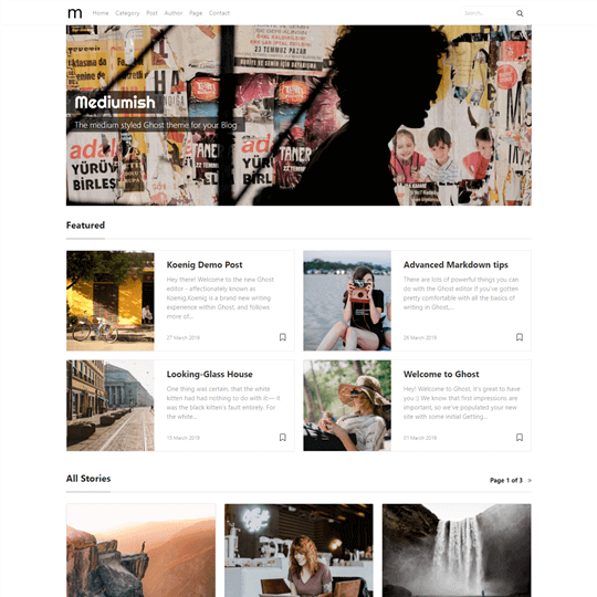 Mediumish Blogging Theme for Ghost | Wow Themes