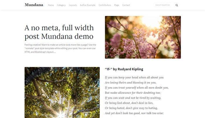Mundana Blogging Theme for Ghost | Wow Themes
