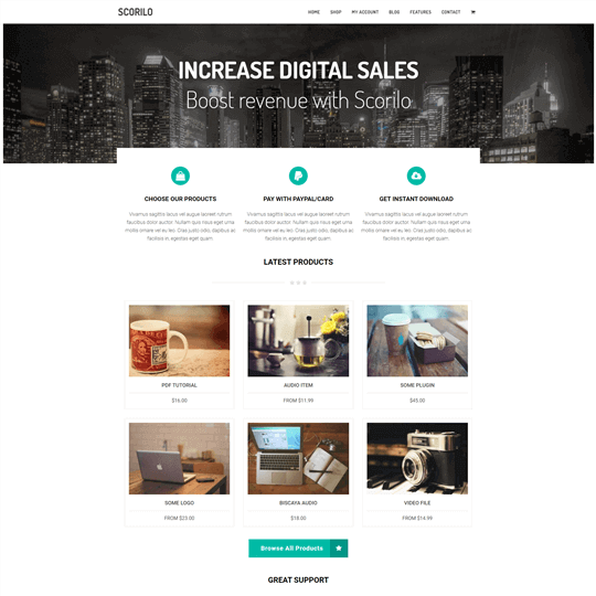 Scorilo WordPress Theme