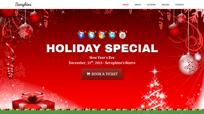 Seraphine - Christmas Template - Landing Page and Newsletter
