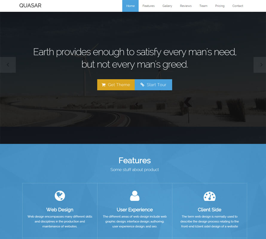 Mysql landing pages & template from themeforest.