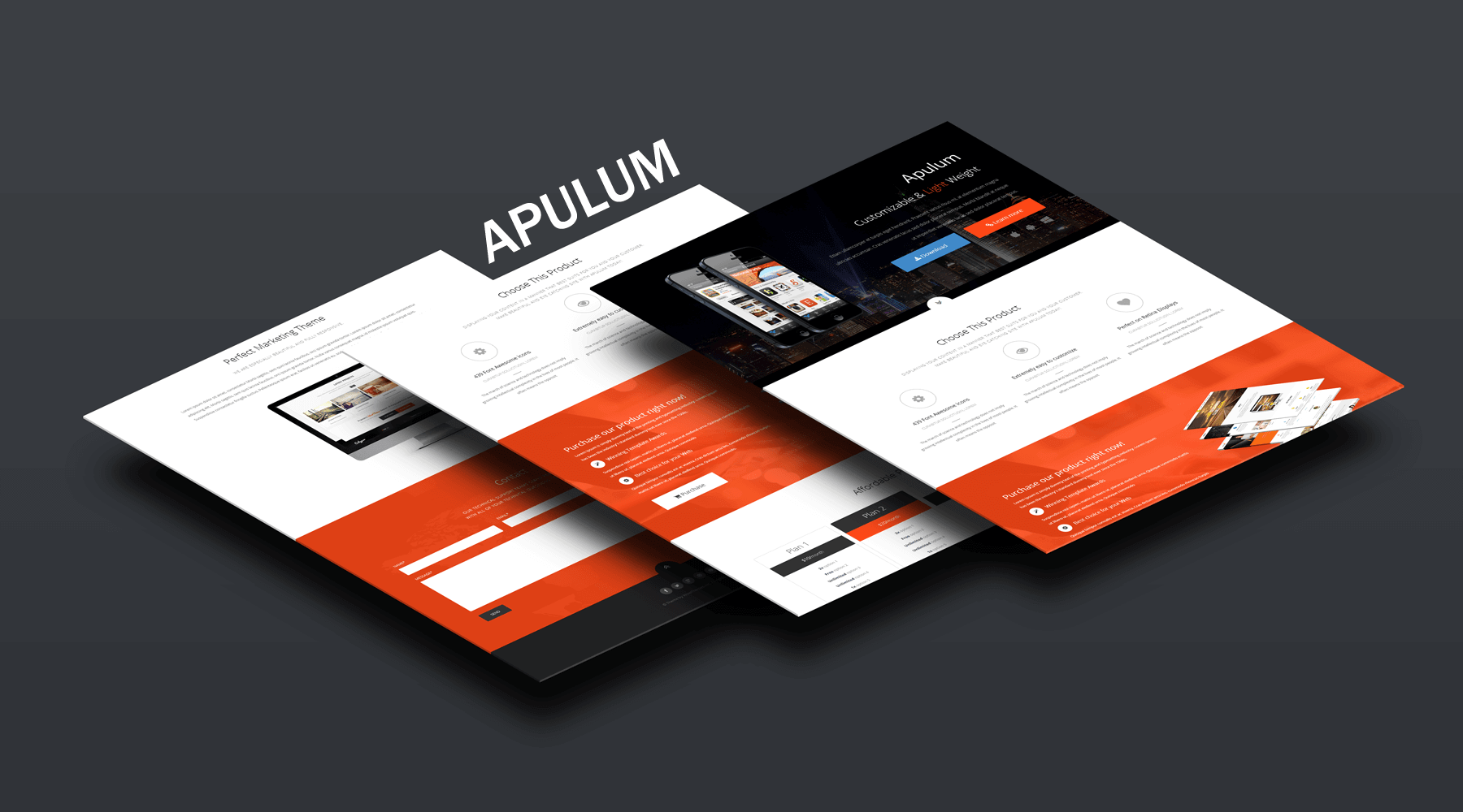 Apulum - Landing Page Template