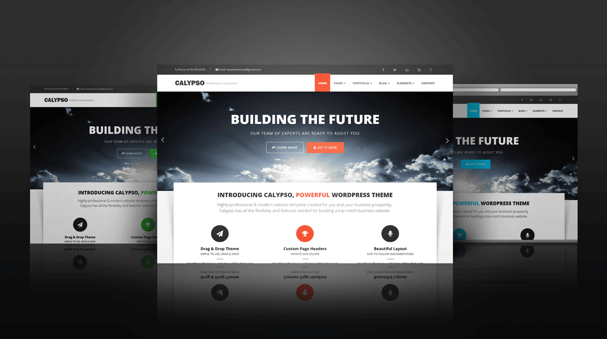 wordpress theme calypso