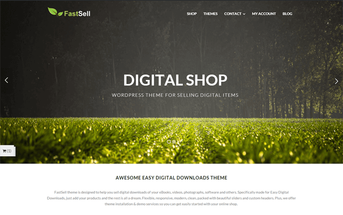 New WordPress Theme for Easy Digital Downloads - FastSell