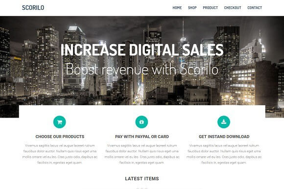 Scorilo - Free HTML Bootstrap Ecommerce Template