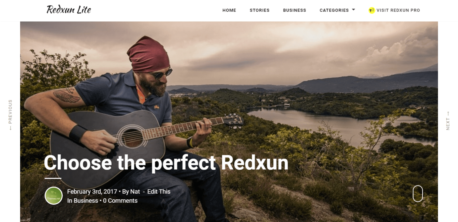 RedxunLite - Free Blogging WordPress Theme