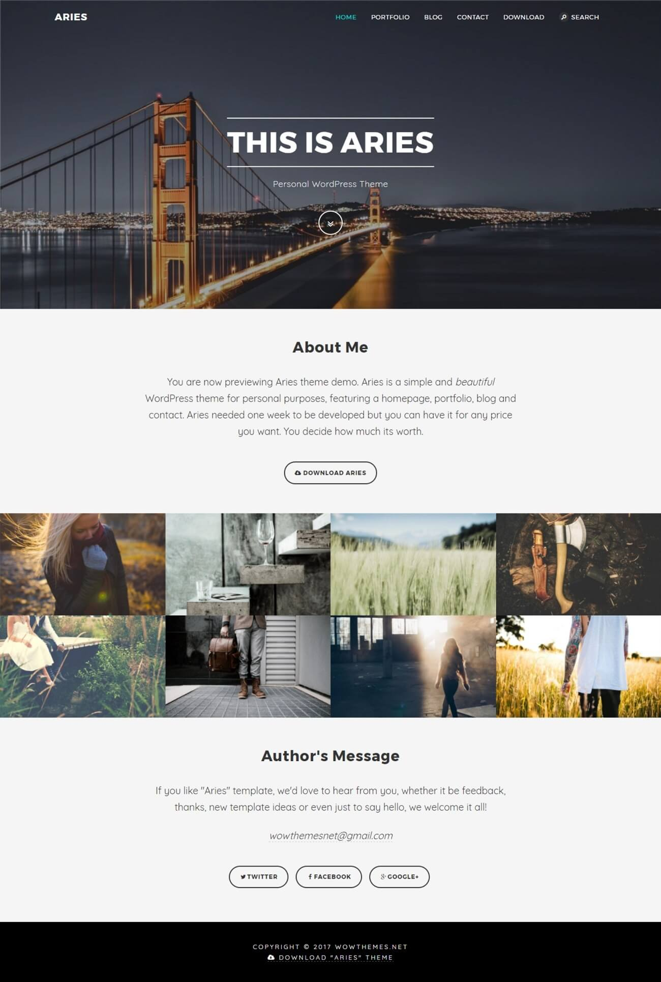 Aries WordPress Theme