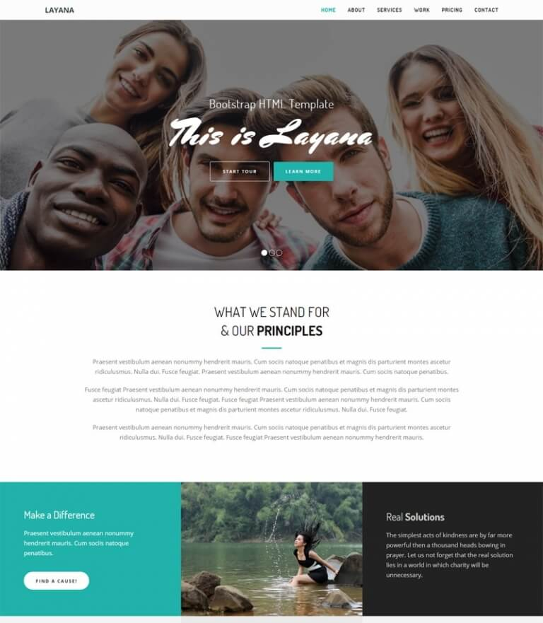 Layana - Free HTML Bootstrap Template